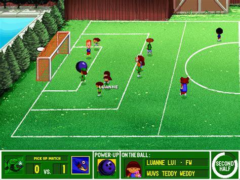 backyard soccer game backyard soccer screenshots for windows mobygames