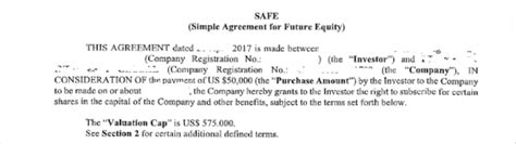 These Shocking Hidden Terms Of Safe Notes Can Screw Up Your Startup Simple Agreement For Future Equity Template