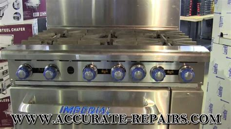 imperial commercial oven pilot light imperial ir6 gas commercial range