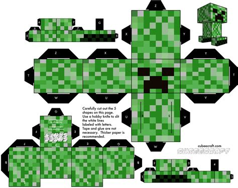 Minecraft Papercraft Creeper - cubecraft creeper creeper paper papercraft minecraft