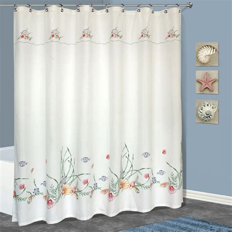 seashells shower curtain united curtain company ucshowsshl seashell shower curtain
