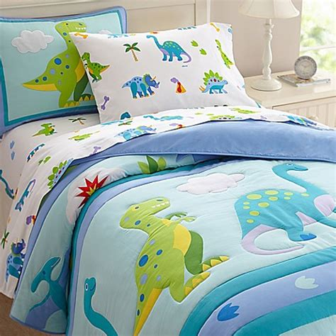 Olive Kids Dinosaur Land Bedding In Blue Buybuy Baby