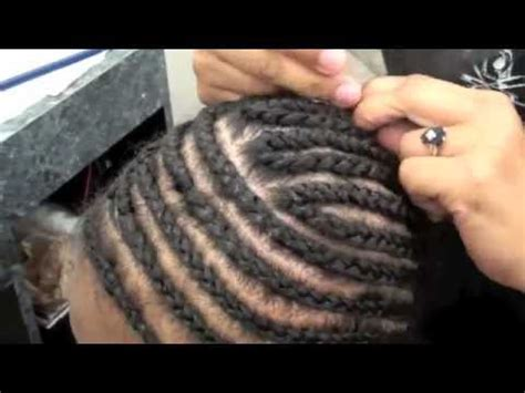 how to cornrow in a circle cornrow weave foundation braid youtube