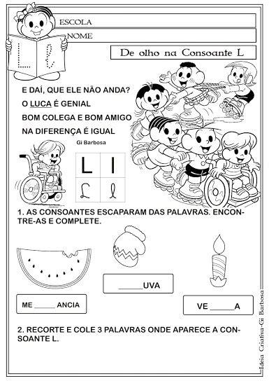 Caderno de Atividades Letras do Alfabeto com texto Turma
