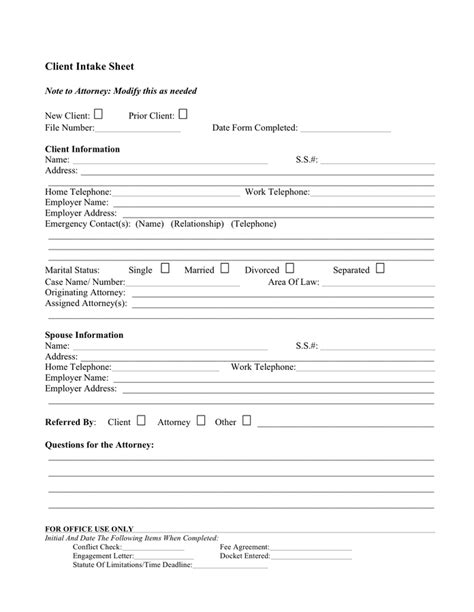 personal trainer client profile template client profile sle free documents for pdf