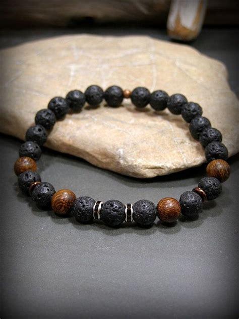 mens lava bracelets mens beaded bracelet black bracelet lava rock bracelet