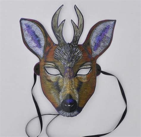 printable antelope mask diy simple animal face mask for kids tutorial k4 craft