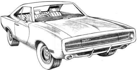 dodge challenger free coloring pages