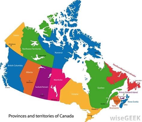 map of canada by province how many provinces does canada with pictures