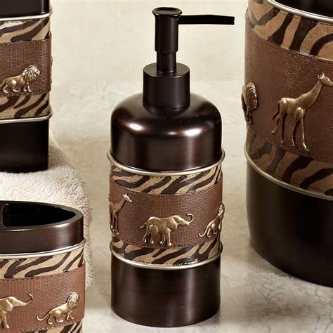 Safari Bathroom Accessories Animal Parade Safari Bath Accessories