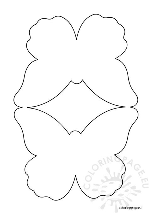 Butterfly Card Template Coloring Page Card Templates To Color