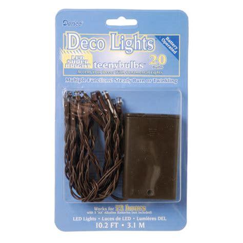 deco lights brown wire deco lights 20 led light bright strand teeny bulbs