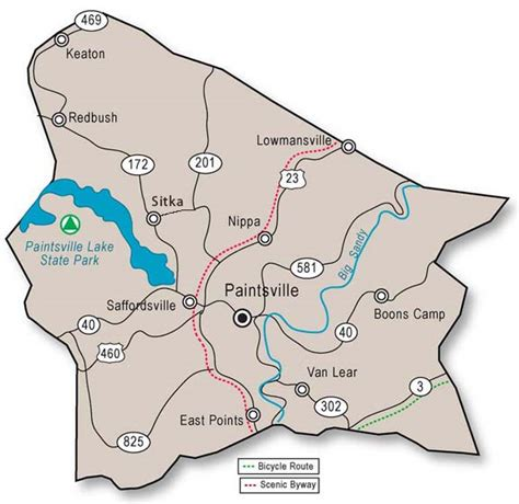 kentucky map johnson county adventure tourism in johnson county