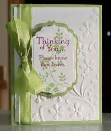 condolences card handmade sympathy card stin up thoughts by whimsyartcards