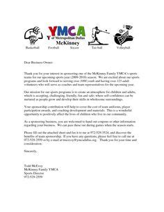 Sponsorship Letter For Youth Conference parent thank you letter from youth athletes sponsorship