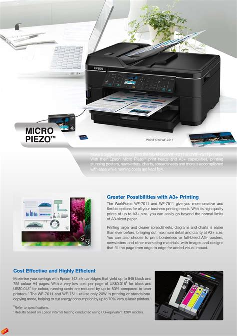 Printer Epson Wf 7511 A3 Craft Magic Global Marketing Epson Workforce Wf 7011 Wf