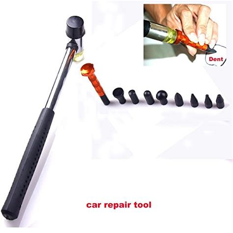 Hiyi Pdr Auto Dent Removal Repair Hail Hammer Blending Hammer On Tips Tap Tools Hiyi Pdr 10pcs Dent Repair Tool Kits Paintless Dent Removal Tap Tool Dent Hammer Diy