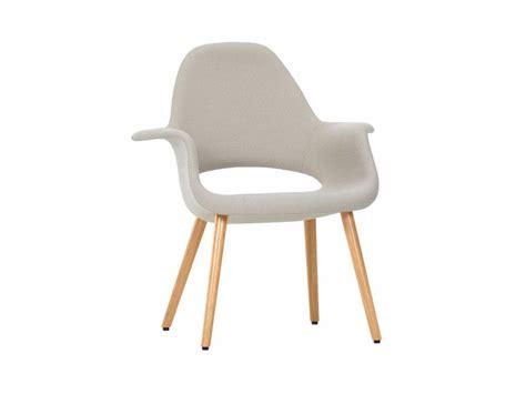 sedia imbottita in tessuto con braccioli organic chair vitra