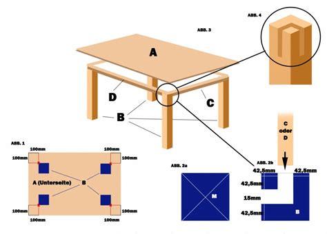 Tisch Selber Bauen Anleitung esstisch selber bauen anleitung my