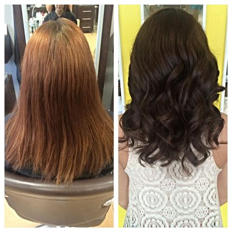 5n hair color color correction faded to chocolate career