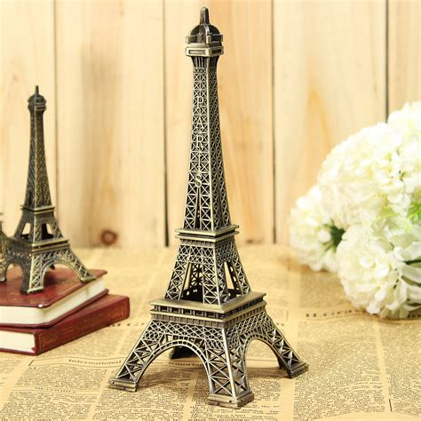 Eiffel Tower Home Decor by Vintage Bronze Tone Eiffel Tower Sculpture Retro