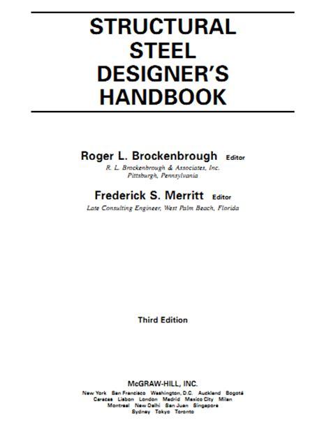 design engineer s handbook pdf download structural steel designer s handbook by roger and