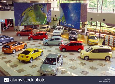 toyota car showroom toyota car showroom with models on display at