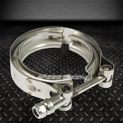 Sdd Ss 1 1 2 Stainless Pesan 2 25 quot stainless steel zinc coated turbo intercooler exhaust downpipe v band cl ebay