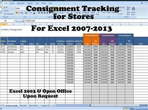 Inventory And Sales Consignment Tracking For Stores Track Consignments Excel Template Running Inventory Excel Template