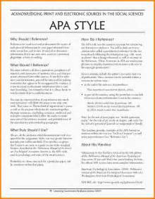 Apa Resume Format by 9 Exle Of Apa Format Nypd Resume