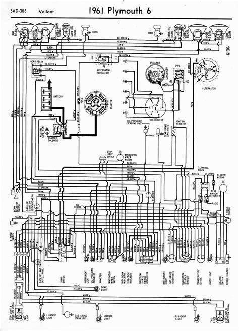 1954 Plymouth Belvedere Wiring Diagram 38 Wiring Diagram Wiring Diagrams Of 1961 Plymouth 6 Valiant Circuit