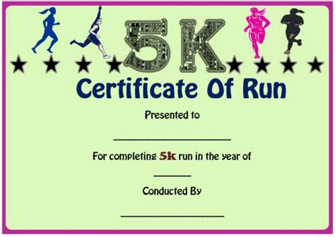 run certificate template run certificate template 14 editable free word