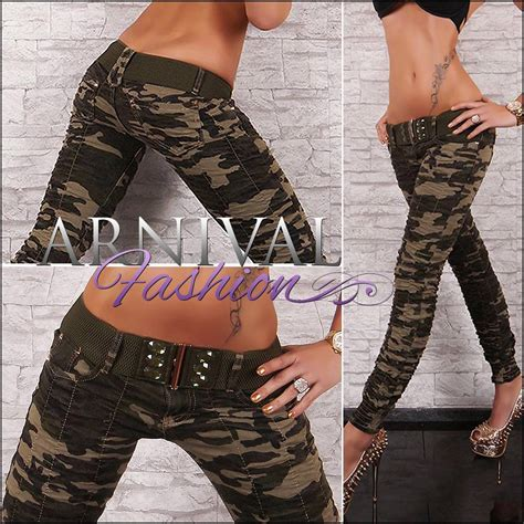 Hotpants Hotpant Army new belt camo for wear camo