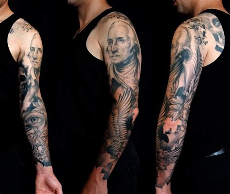 george washington tattoo from labor to refreshment masonic ink