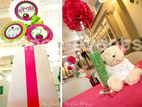 pink and green ladybug baby shower decorations pink green ladybugs baby shower ideas photo 1 of
