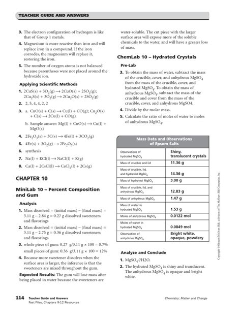 Stoichiometric Calculations Worksheet Answers