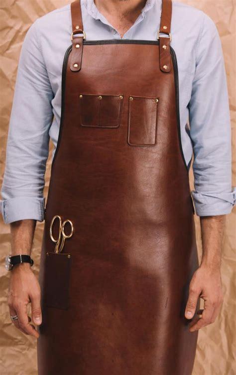 Apron Celemek Fashion Chef Barista blue grae heavy duty leather apron baristas apron chef izzy styles leather