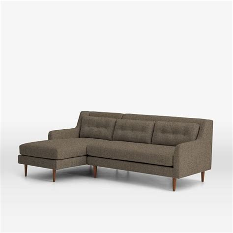 crosby sofa with chaise crosby mid century 2 piece chaise sectional west elm
