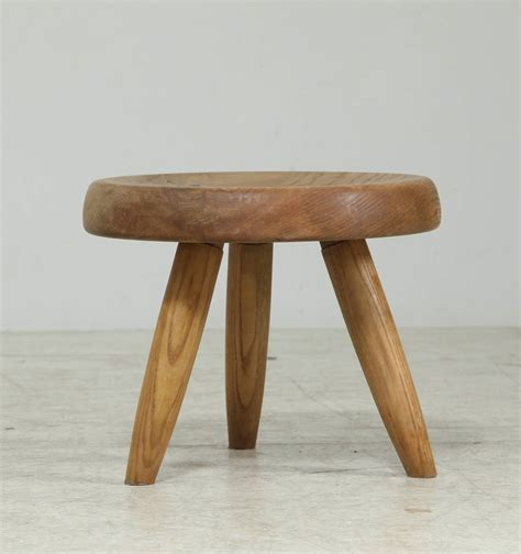 Ash Colored Stool by Perriand Ash Stool 1960s For Sale At 1stdibs