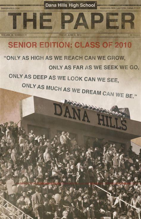 paper senior edition   dana hills high school