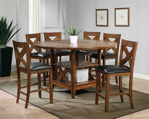Counter High Dining Table Set 7 Mcferran Furniture D4660 Counter High Dining Set