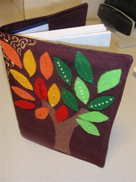 How To Decorate Cover Page Of Book diary of a crafty easy fabric book cover