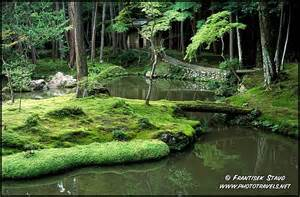 photograph of zen garden of saiho ji moss temple