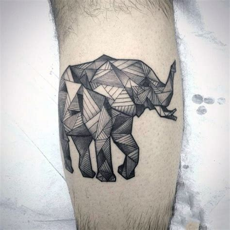 tattoo elephant geometric geometric elephant tattoo on arm