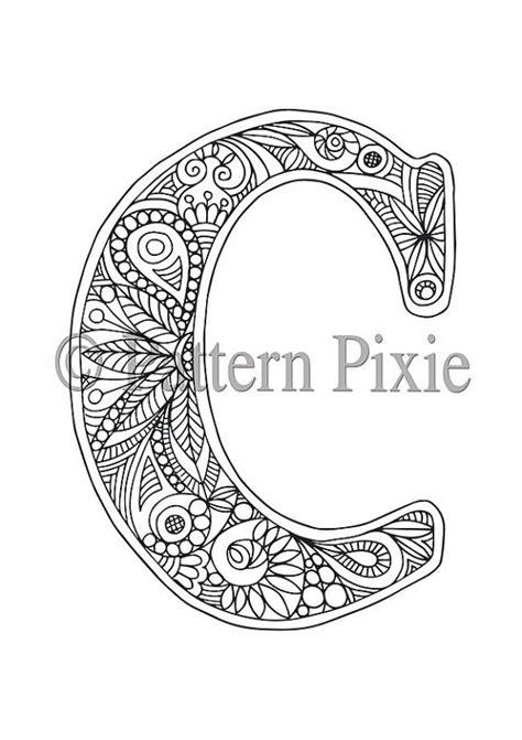 Letter C Coloring Pages For Adults by Colouring Page Alphabet Letter Quot C Quot Alphabet