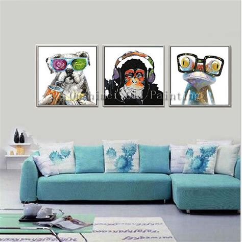 monkey home decor aliexpress com buy hand painted abstract animals oil