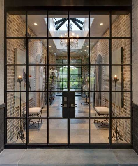 Steel Doors Windows Add A Subtle And Elegant Touch To A Metal Framed Glass Doors