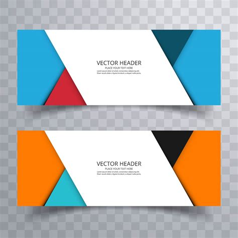 free header templates abstract banner set design background or header templates