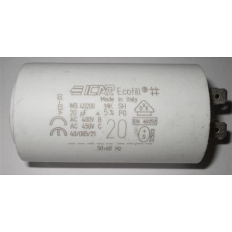 icar ecofill capacitor 7uf ecofill capacitor 28 images 25uf run capacitor icar p0 plastic 400 450 500v motor spa dryer
