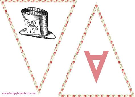 vintage teapot bunting printable tea time pinterest